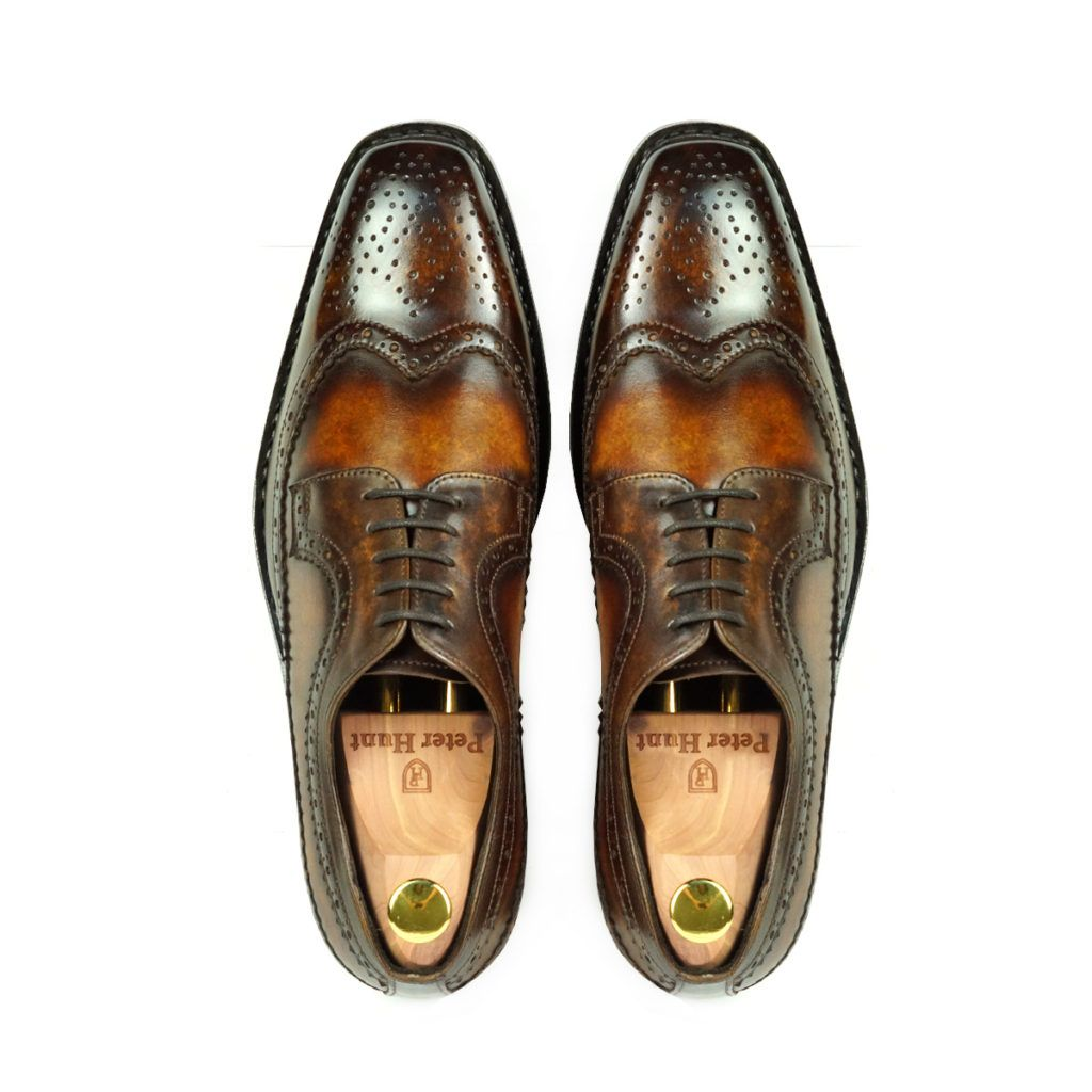 picasso-brown-tan-derby-patina-shoes-peter-hunt_4