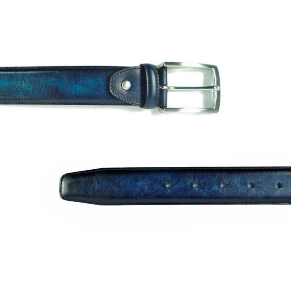 Navy Leather Belts for Men