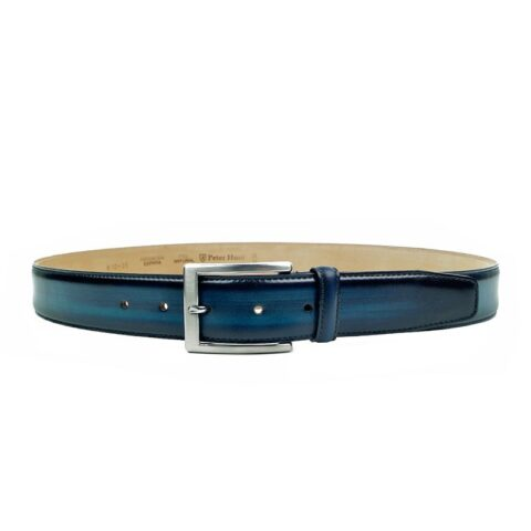 Navy Leather Belts for Men