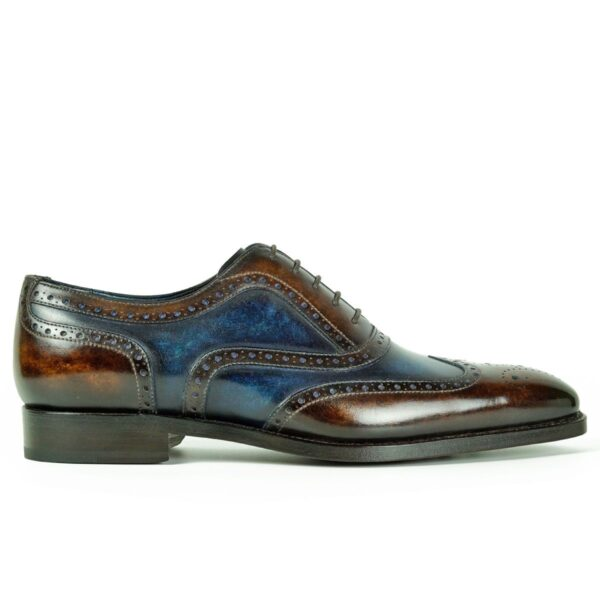 Mens Brogue Shoes Brown and Navy