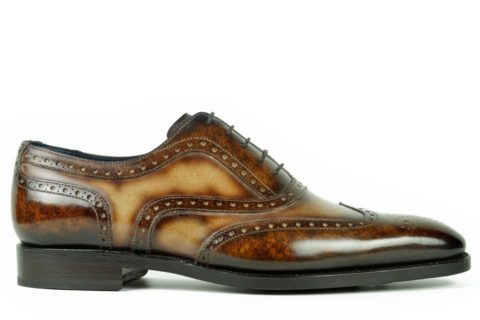 Mens Brogue Shoes Brown and Tan