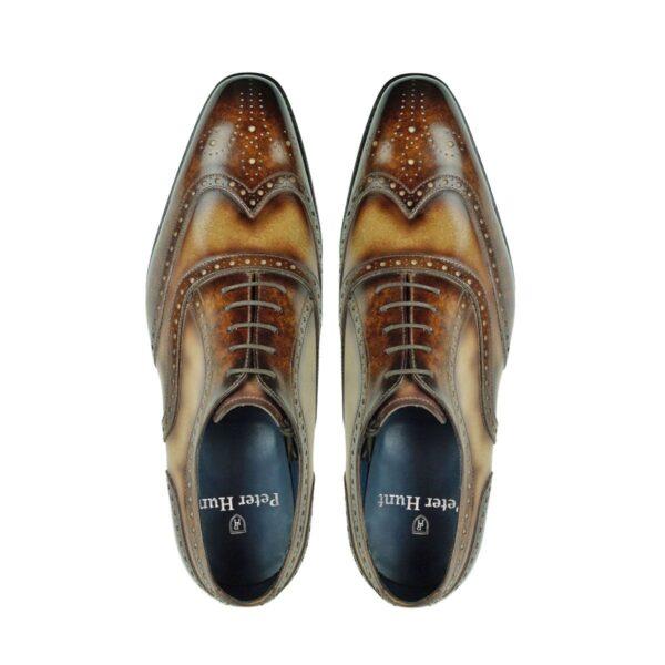 Mens Brogue Shoes Brown and Tan