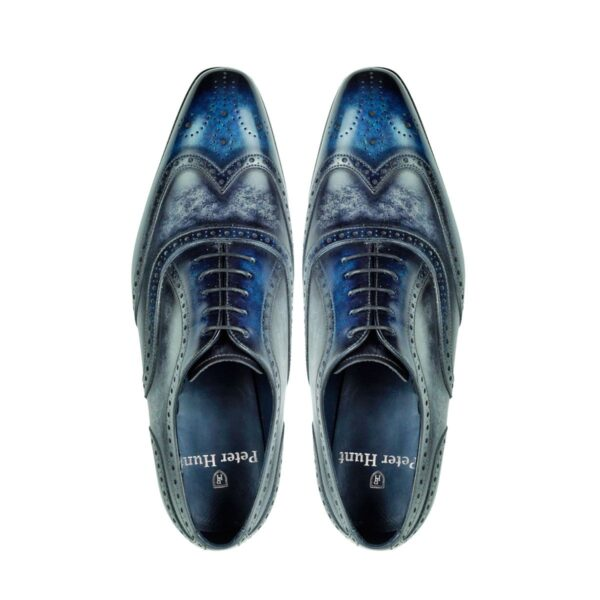 Mens Brogue Shoes Ocean and Stone