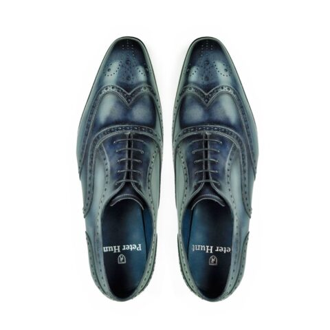 Mens Brogue Shoes Grey
