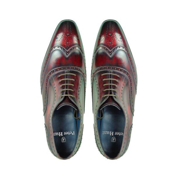 Mens Brogue Shoes Wine