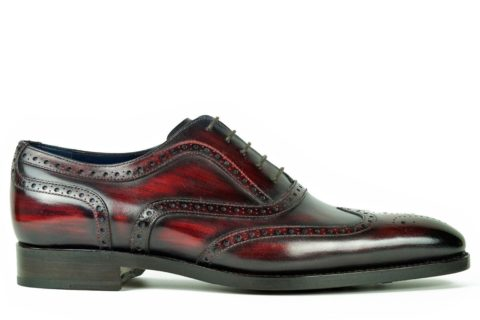 Mens Brogue Shoes Wine