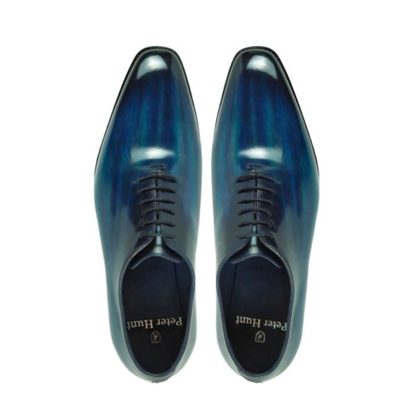 Mens Wholecut Dress Shoes Navy - Peter Hunt