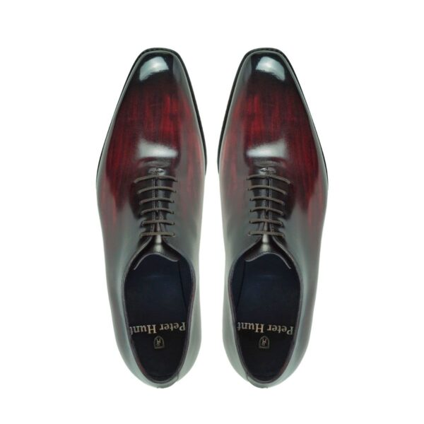 Mens Wholecut Dress Shoes Wine - Peter Hunt