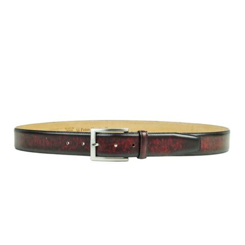 Wine Leather Belts for Men