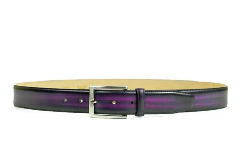 Purple Leather Belt for Men