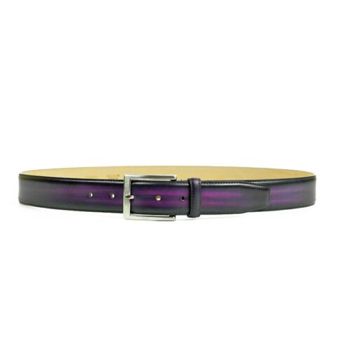 Purple Leather Belt for Men