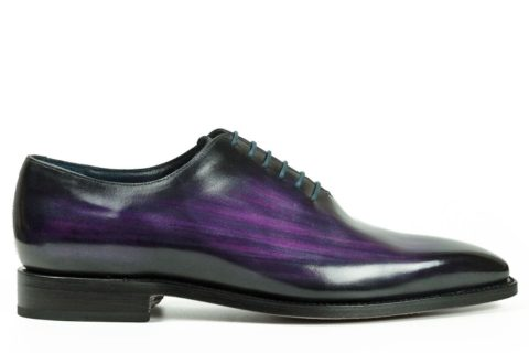 Mens Designer Dress Shoes Purple - Peter Hunt