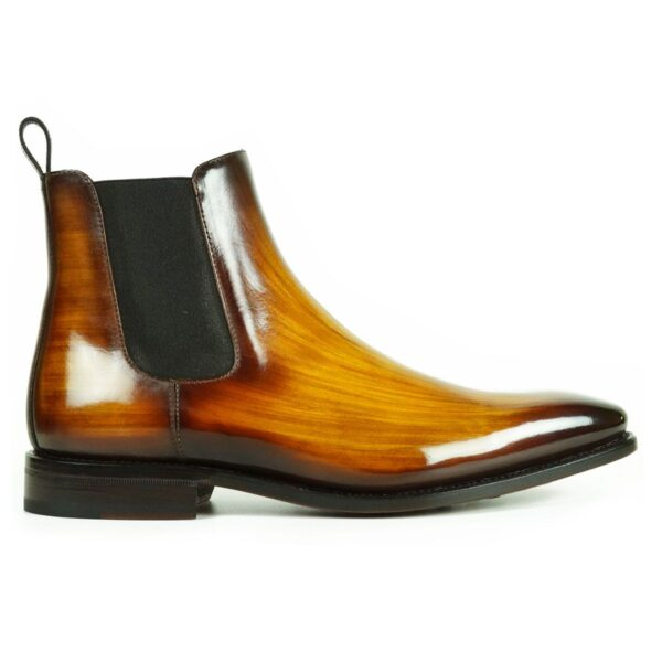 Chlelsea Boots for Men in Cognac Patina by Peter Hunt