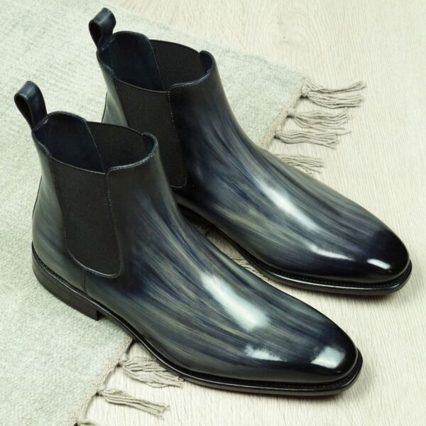 Chlelsea Boots for Men in Grey Patina by Peter Hunt
