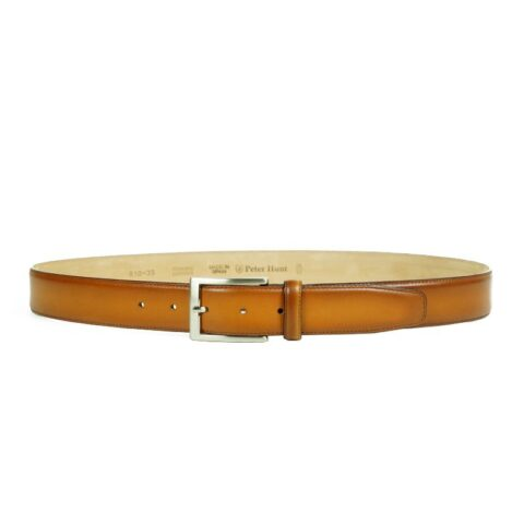 Men's Cognac Leather Belt