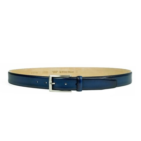 Men's Navy Leather Belt