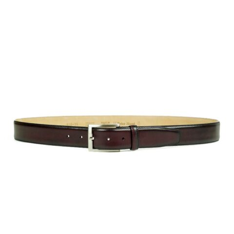 Men's Wine Leather Belt