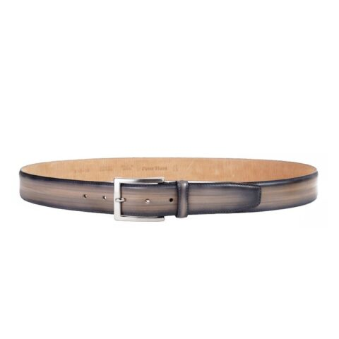 Men's Taupe Leather Belt