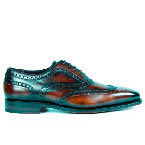 Mens Brogue Shoes Cuero Brown - Peter Hunt