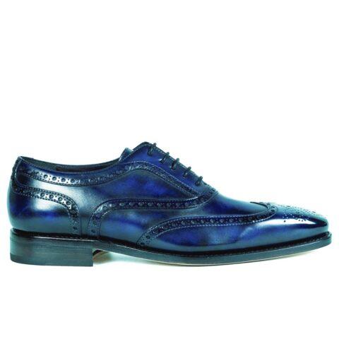 Mens Brogue Shoes Navy - Peter Hunt
