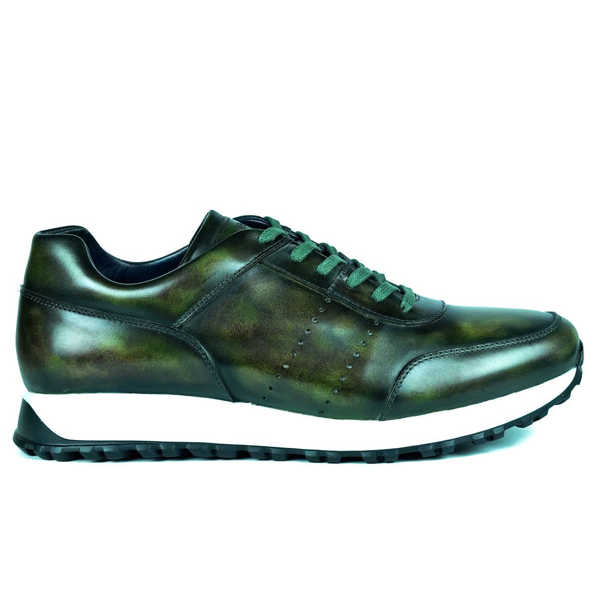 Mens Green Sneakers Shoes