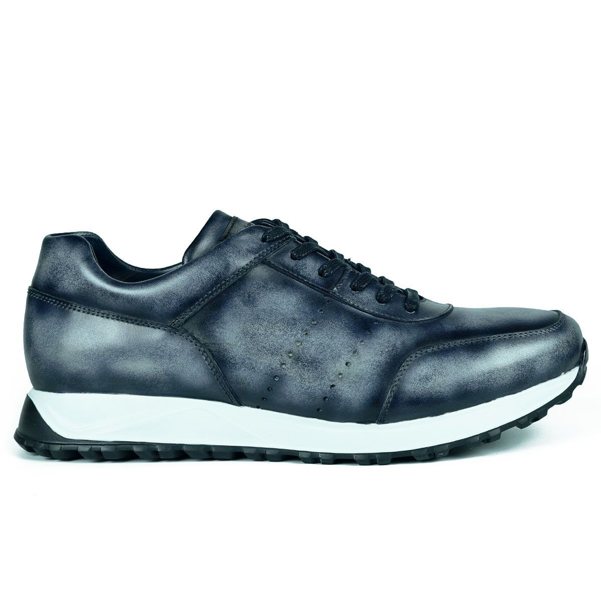 Mens Grey Sneakers Shoes