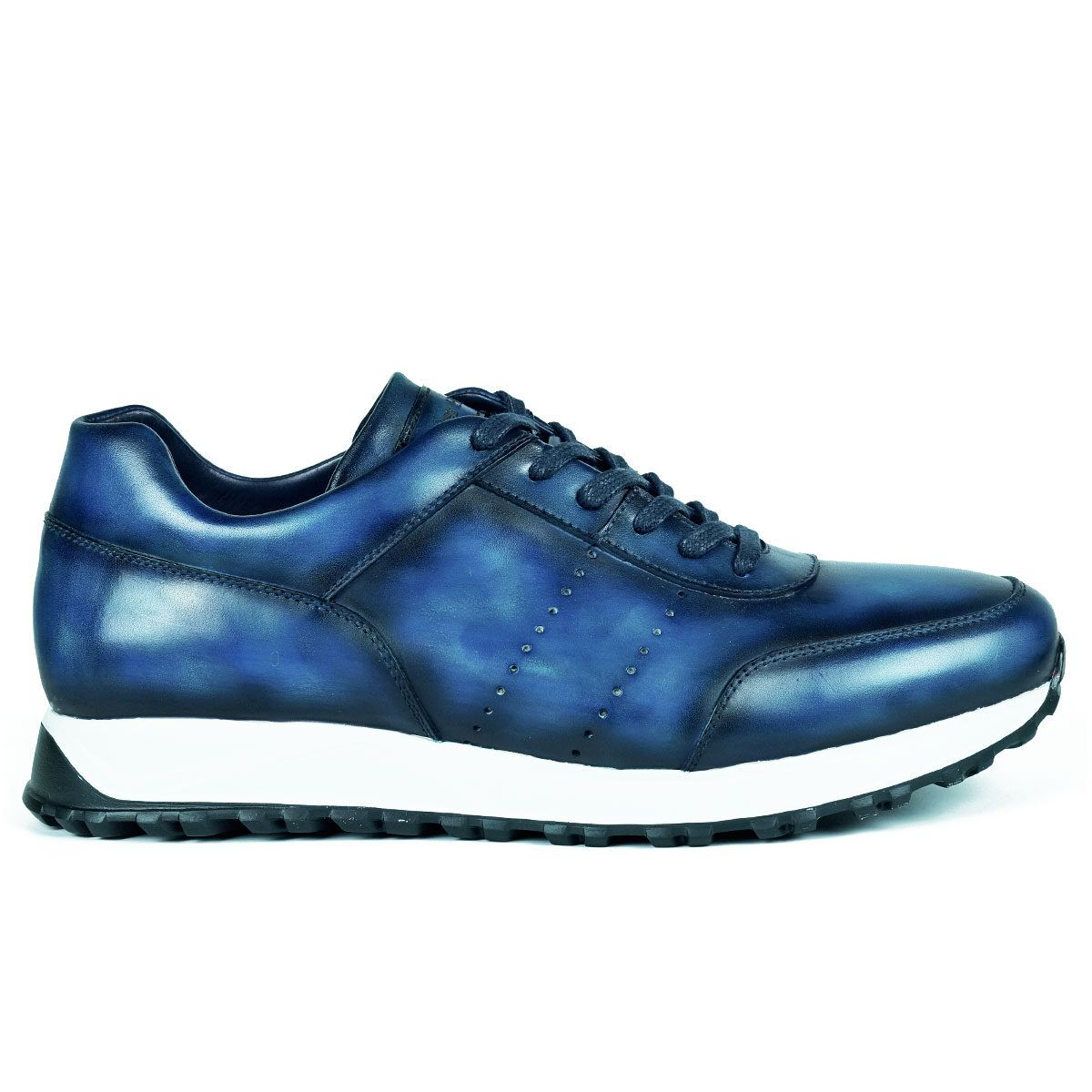 Mens Navy Sneakers Shoes