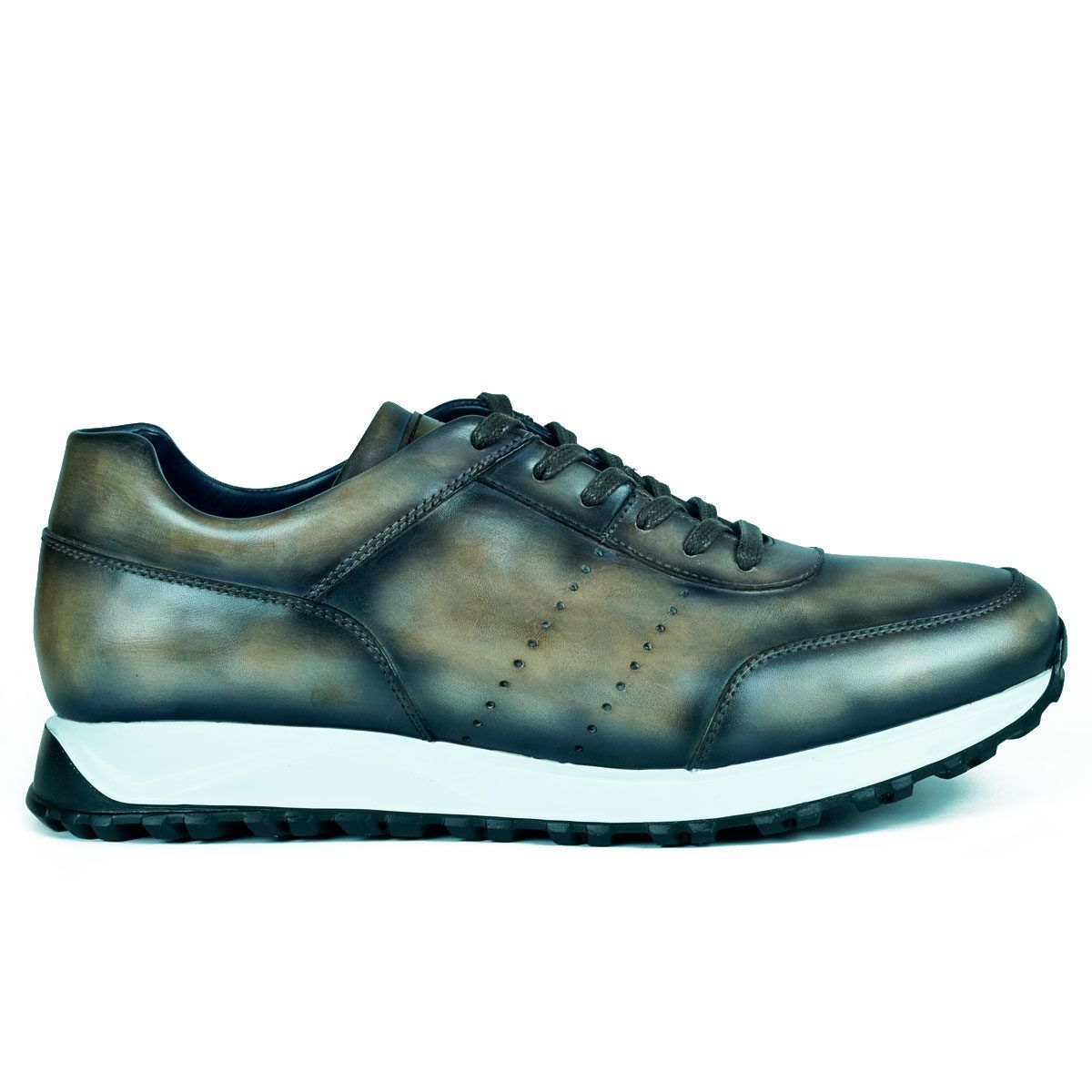 Mens Taupe Sneakers Shoes